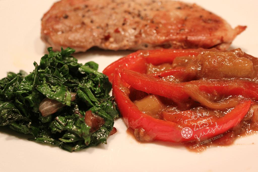 Pork-Chop-Kale-Spinach-Rhubarb-Onion-Pepper-2-The-Zest-Quest
