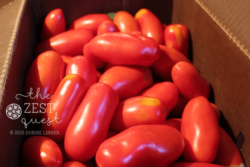 Ohio-Farm-Share-Week-15-extra-one-half-Bushel-San-Marzano-Tomatoes-boxed-2-The-Zest-Quest