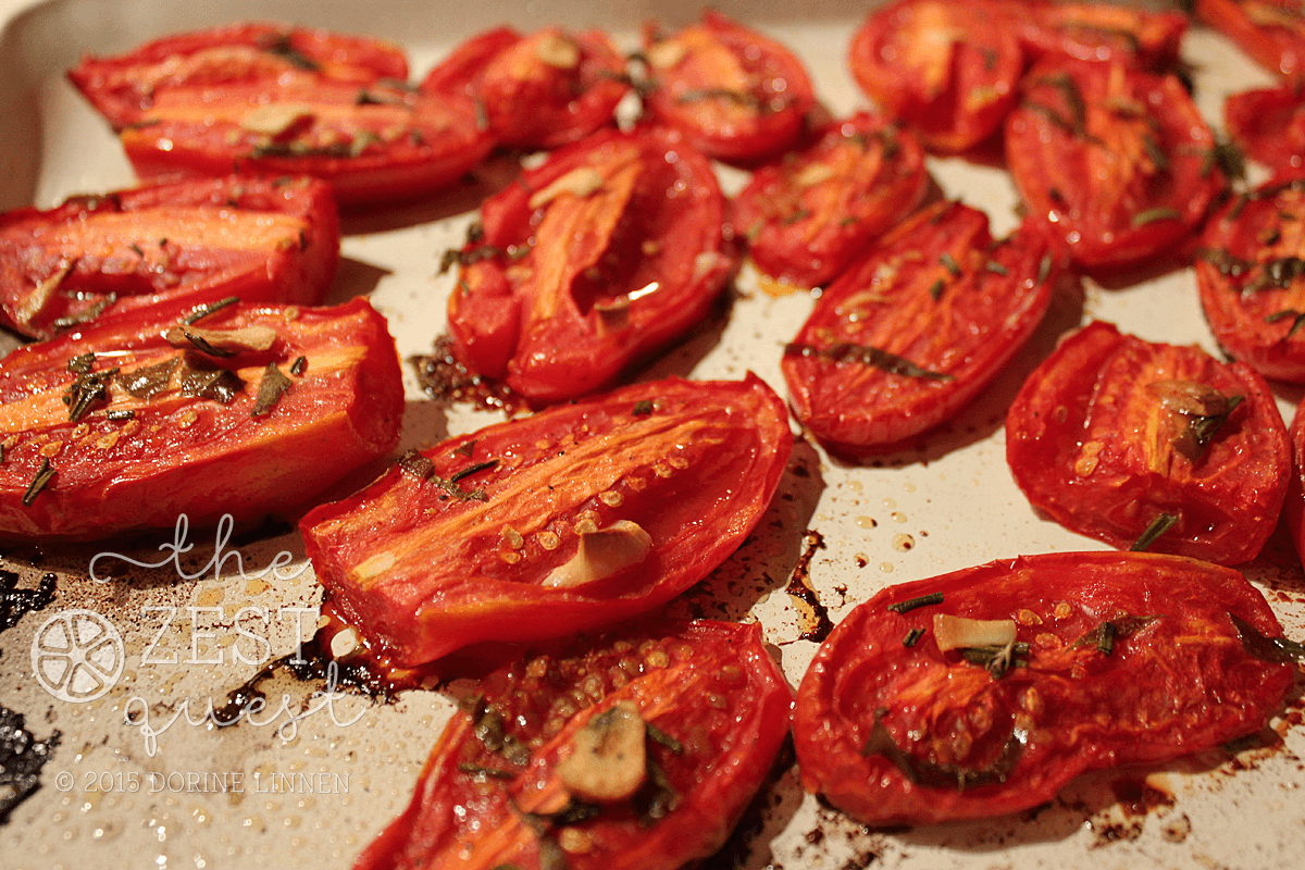 Roasted Tomatoes for eating and freezing