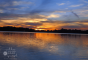 Sunset-at-Springfield-Lake-Ohio-blends-orange-with-blue-to-purple-2-The-Zest-Quest