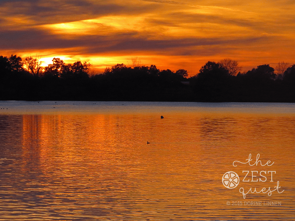 Sunset-at-Springfield-Lake-Ohio-reflects-Autumn-colors-2-The-Zest-Quest