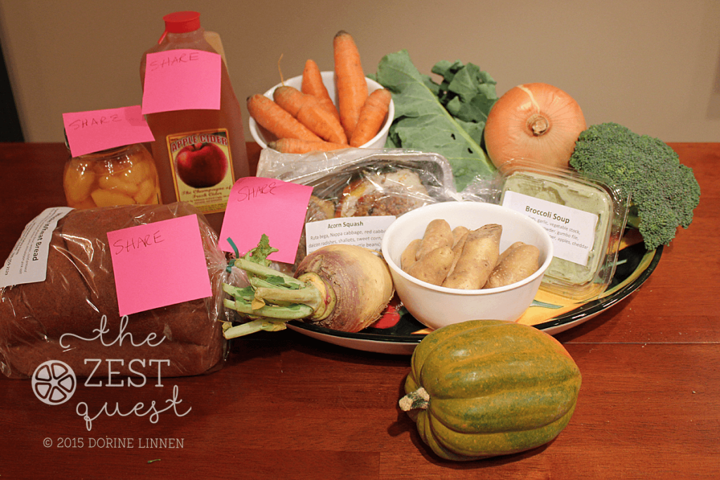 Ohio-Farm-Share-Winter-Week-5-Half-Vegetarian-Pilot-Share-includes-soup-Cider-Acorn-Squash-entree-and-more-2-The-Zest-Quest