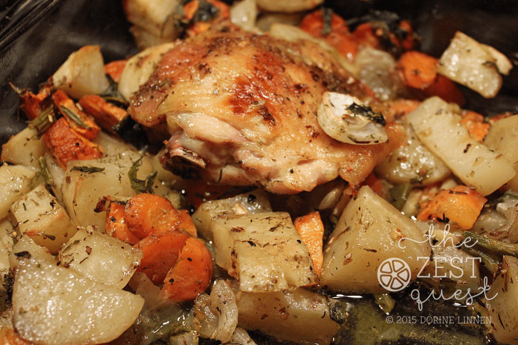 Roasted-Chicken-Thighs-and-Vegetables-easy-Sunday-Dinner-2-The-Zest-Quest