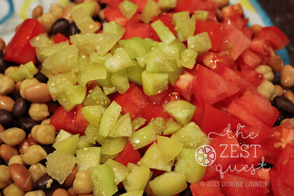 Zesty-Salsa-Bean-Salad-Recipe-includes-Tomatoes-and-Tomatillos-chopped-up-2-The-Zest-Quest
