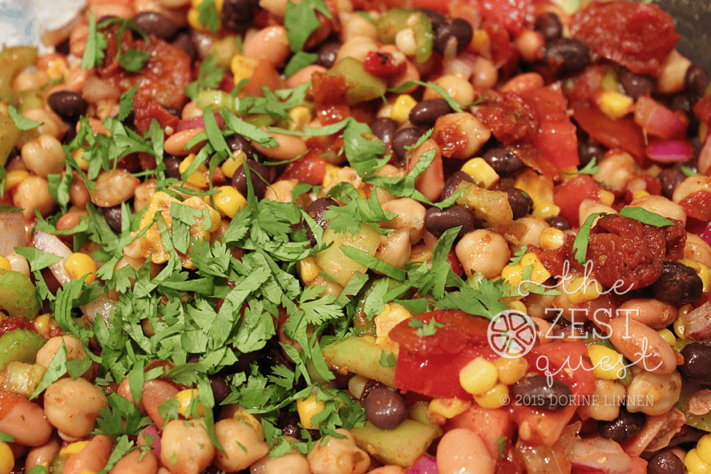 Zesty-Salsa-Bean-Salad-Recipe-includes-some-chopped-Cilantro-to-your-taste-2-The-Zest-Quest