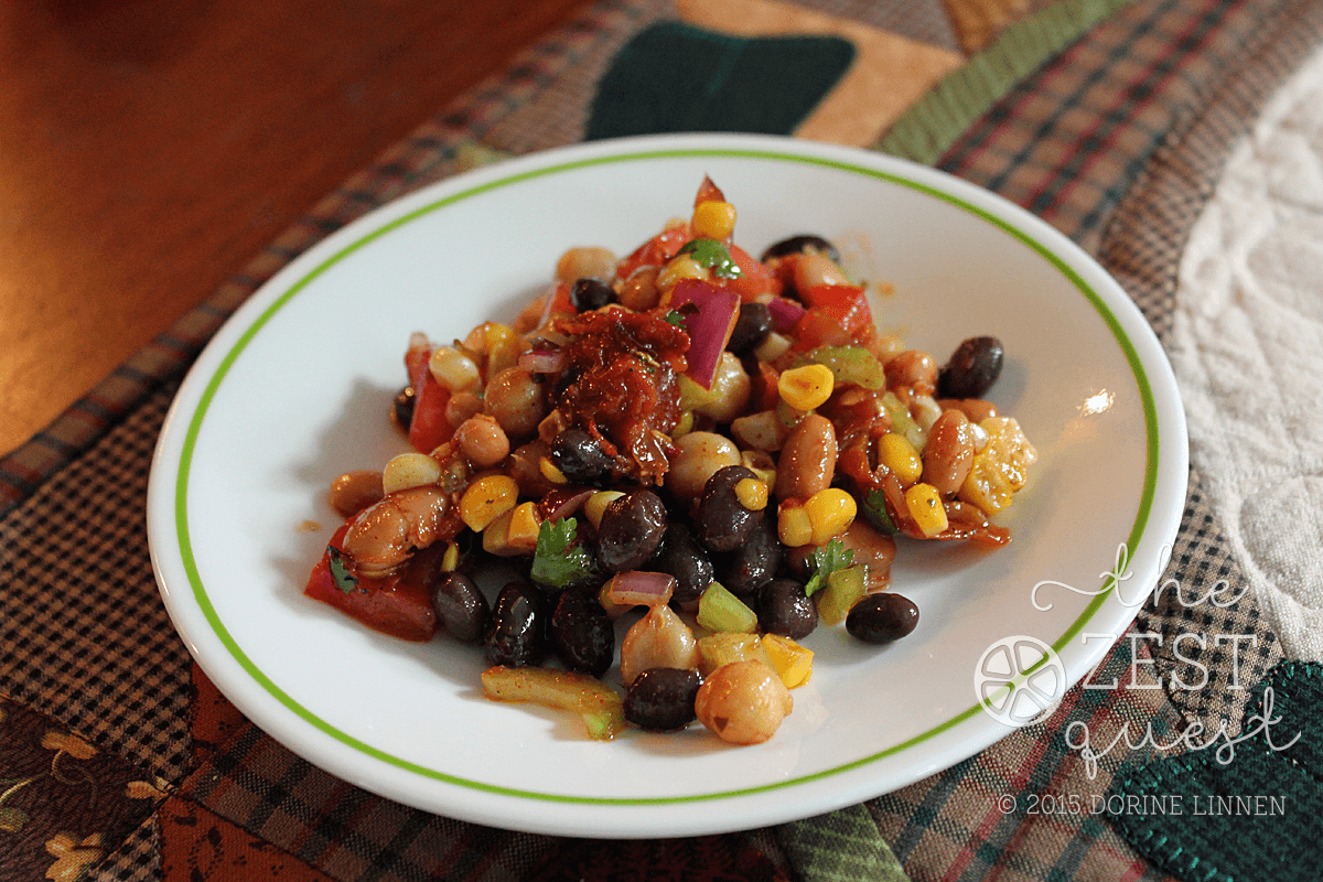 Zesty Salsa Bean Salad Recipe – Meatless Monday