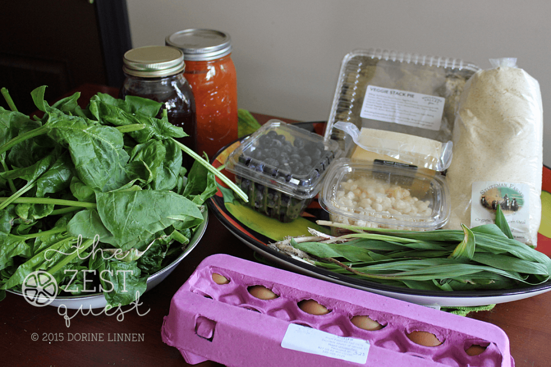 Ohio-Farm-Share-Winter-Week-14-Back-40-Stack-Pie-Cornmeal-Grape-Cider-Tomato-Sauce-Ramps-Spinach-2-The-Zest-Quest