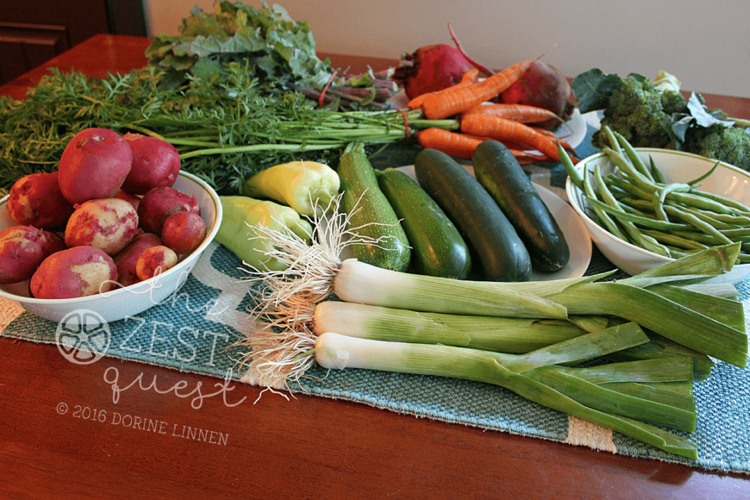 Summer Farm Share Week 8 - tracking equals weight loss