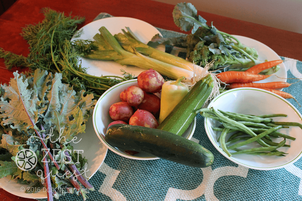 Summer Farm Share Week 8 – tracking equals weight loss