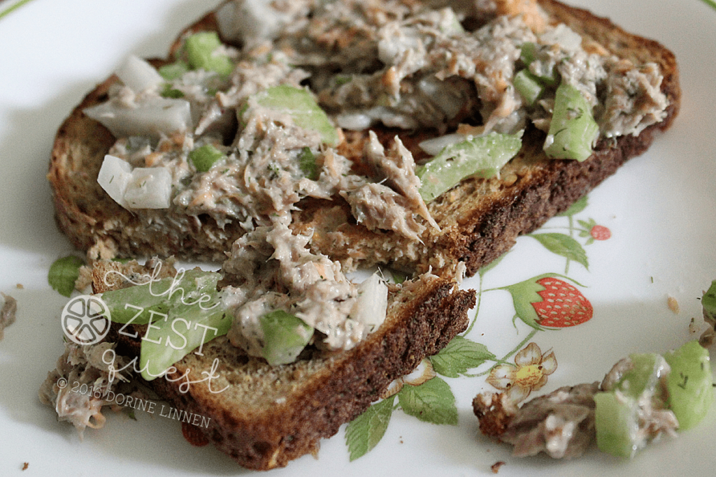 Tuna-Salad-crunchie-with-vegetables-like-onion-celery-and-carrots-on-toast-2-The-Zest-Quest