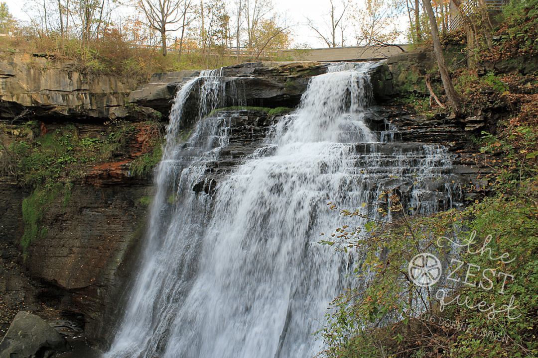 Brandywine Falls in the CVNP is stunning against the ledges and leaf color