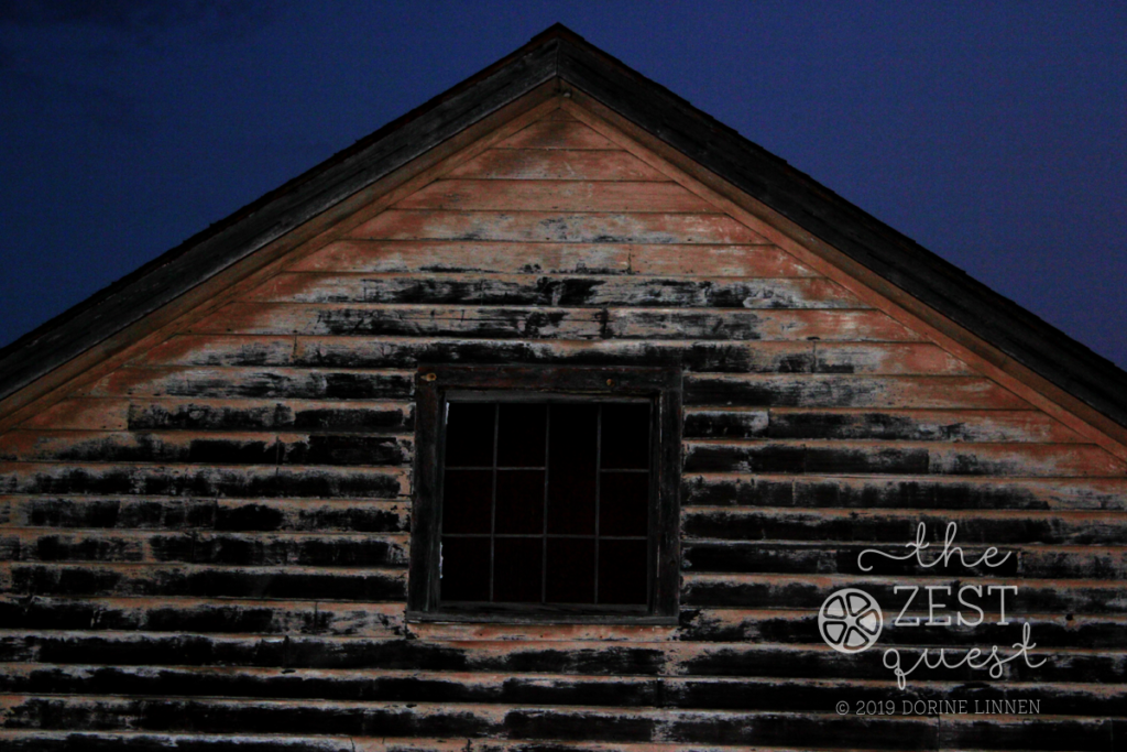 A close up of Abandoned building that looks haunted by TheZestQuest.com