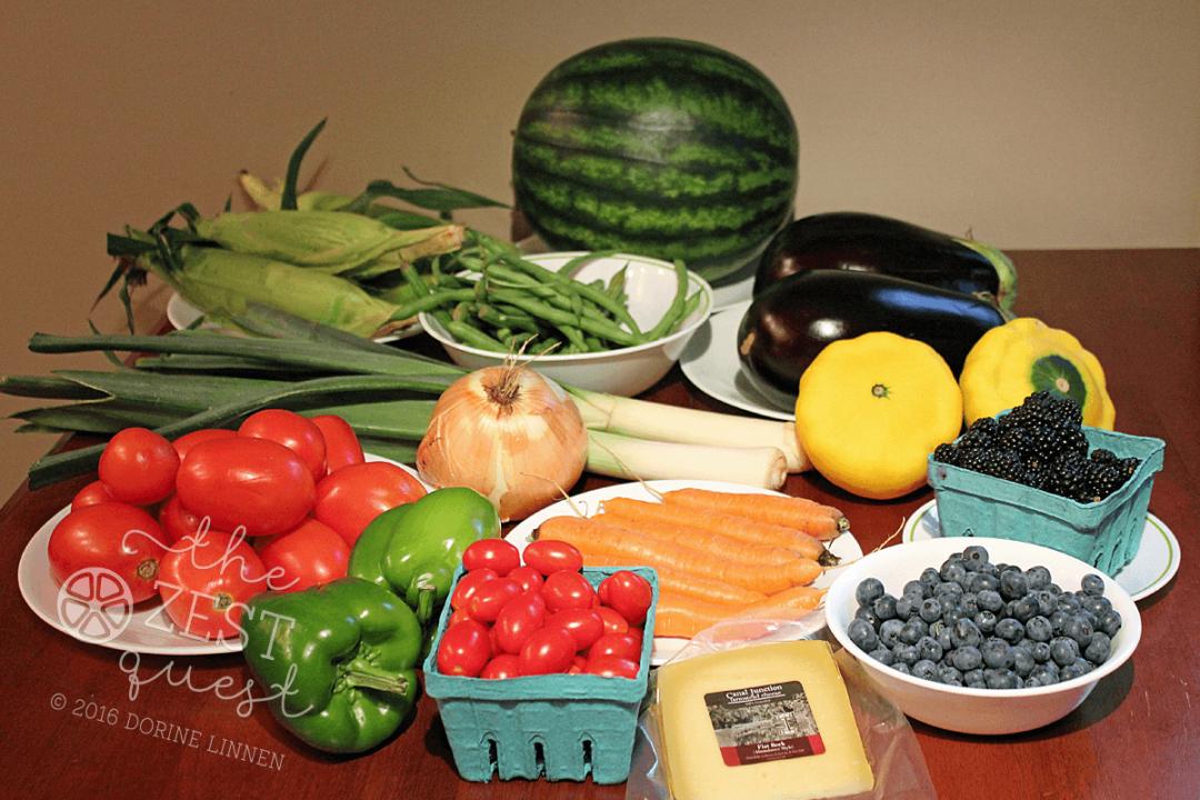 Ohio Farm Share Summer Week 12 includes Patty Pan Squash